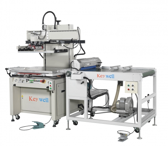 Automatic Single Arm Screen Printing Machine (Automatic feeder (optional) / Static eliminator / Auto registration for printing / Auto delivery)
